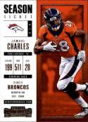 2017 Panini Contenders #63 Jamaal Charles Denver Broncos