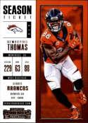 2017 Panini Contenders #65 Demaryius Thomas Denver Broncos