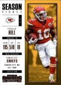 2017 Panini Contenders #67 Tyreek Hill Kansas City Chiefs