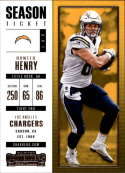 2017 Panini Contenders #71 Hunter Henry San Diego Chargers
