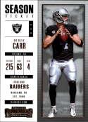 2017 Panini Contenders #72 Derek Carr Oakland Raiders