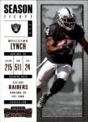 2017 Panini Contenders #73 Marshawn Lynch Oakland Raiders