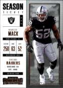 2017 Panini Contenders #75 Khalil Mack Oakland Raiders