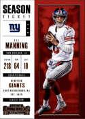 2017 Panini Contenders #80 Eli Manning New York Giants