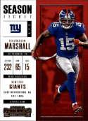 2017 Panini Contenders #82 Brandon Marshall New York Giants