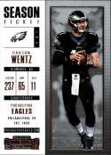 2017 Panini Contenders #83 Carson Wentz Philadelphia Eagles