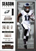 2017 Panini Contenders #85 Alshon Jeffery Philadelphia Eagles