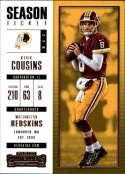2017 Panini Contenders #86 Kirk Cousins Washington Redskins