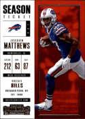 2017 Panini Contenders #91 Jordan Matthews Buffalo Bills