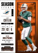 2017 Panini Contenders #92 Jay Cutler Miami Dolphins