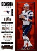 2017 Panini Contenders #95 Tom Brady New England Patriots