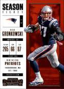 2017 Panini Contenders #96 Rob Gronkowski New England Patriots