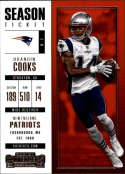 2017 Panini Contenders #97 Brandin Cooks New England Patriots