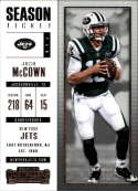 2017 Panini Contenders #100 Josh McCown New York Jets