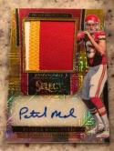 2017 Select Prime Selections Gold Prizm Jersey Number #4 Patrick Mahomes AUTO/10