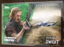 2017 Topps Walking Dead Evolution Autographs Green #A-AA Austin Amelio Auto S25 Dwight