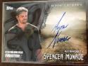 2017 Topps Walking Dead Evolution Autographs Black #A-ANI Austin Nichols Auto S50 Spencer Monroe