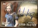 2017 Topps Walking Dead Evolution Autographs Brown #A-ML Madison Lintz Auto S99 Sophia Peletier