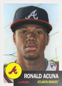 2018 Topps MLB The Living Set #19 Ronald Acuna RC Rookie Atlanta Braves Baseball Card