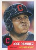 2018 Topps MLB The Living Set #20 Jose Ramirez Cleveland Indians Baseball Card