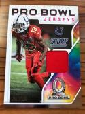 2018 Score Pro Bowl Jerseys #20 T.Y. Hilton Indianapolis Colts Football Jersey MEM Card