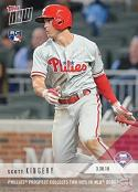 2018 Topps Now Baseball #12 Scott Kingery Rookie Card - His 1st Official Rookie Card - Only 2,786 made!