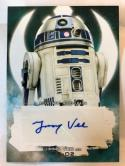 2018 Topps Star Wars The Last Jedi Series 2 Autographs #NNO Jimmy Vee Auto Autograph R2-D2 Collectible Movie Trading Car