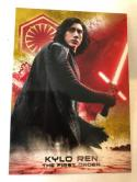 2018 Topps Star Wars The Last Jedi Series 2 Soldiers of the First Order Gold #FO-1 Kylo Ren SER/10 Collectible Movie Tra
