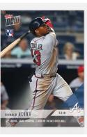 2018 Topps Now Baseball #403 Ronald Acuna RC Rookie Card Atlanta Braves 11th Inning, Game Winning Home Run Beats Yankees
