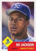 2018 Topps The Living Set #70 Bo Jackson Kansas City Royals Online Exclusive Baseball Trading Card SOLD OUT at Topps