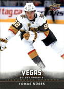 2017-18 Upper Deck Vegas Golden Knights Inaugural Season Hockey #4 Tomas Nosek Official NHL Trading Card RARE