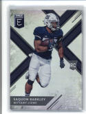 2018 Panini Elite Draft Picks  #105 Saquon Barkley (Dark Jersey) Penn State Nittany Lions Football Card