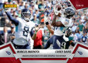 2018 Panini Instant NFL Football #43 Marcus Mariota/Corey Davis Tennessee Titans  Mariota Finds Davis For GW TD  Print Run Only 78