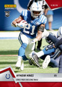 2018 Panini Instant NFL Football #46 Nyheim Hines RC Rookie Indianapolis Colts  Finds End Zone Twice  Print Run Only 66