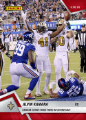 2018 Panini Instant NFL Football #48 Alvin Kamara New Orleans Saints  Scores Three Times in Second Half  Print Run Only 67