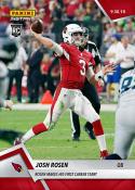 2018 Panini Instant NFL Football #49 Josh Rosen RC Rookie Arizona Cardinals  Makes His First Career Start  Print Run Only 75