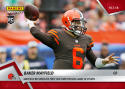 2018 Panini Instant NFL Football #54 Baker Mayfield RC Rookie Cleveland Browns  Records His First 300 Yard Passing Game in OT Win Print Run 210