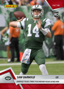 2018 Panini Instant NFL Football #55 Sam Darnold RC Rookie New York Jets  Tosses 3 TD Passes in Big Win  Print Run 62