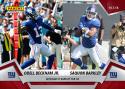 2018 Panini Instant NFL Football #56 Odell Beckham Jr./Saquon Barkley New York Giants  Beckham To Barkley for Six Print Run 111