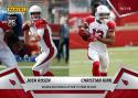 2018 Panini Instant NFL Football #57 Josh Rosen/Christian Kirk Arizona Cardinals  RC Rookie  Duo Hooks Up for 75 Yard TD Pass Print Run 67