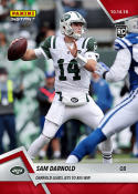 2018 Panini Instant NFL Football #62 Sam Darnold New York Jets  RC Rookie  Leads Jets to Big Win Print Run 62