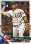 2018 Bowman Chrome Baseball #8 Rafael Devers RC Rookie Boston Red Sox  Official MLB Trading Card