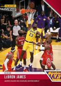 2018-19 Panini Instant NBA Basketball #21 LeBron James Los Angeles Lakers  Online Exclusive Print Run 233