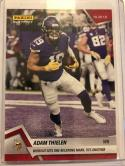 2018 Panini Instant NFL Football #82 Adam Thielen Minnesota Vikings  Wideout Sets One Receiving Mark Ties Another Print Run 69