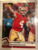 2018 Panini Instant NFL Football #83 Nick Mullens RC Rookie San Francisco 49ers