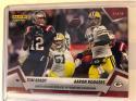 2018 Panini Instant NFL Football #87 Tom Brady/Aaron Rodgers New England Patriots/Green Bay Packers Primetime Showdown Print Run 82