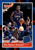 2018 Panini Instant NBA 1988 Rated Rookie Retro Basketball #RR11 Shai Gilgeous-Alexander RC Rookie Los Angeles Clippers  Online Exclusive Trading Card