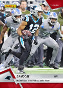 2018 Panini Instant NFL Football #97 DJ Moore RC Rookie Carolina Panthers  Grabs Seven for 157 and a Score Print Run 61 Official Trading Card SOLD OUT