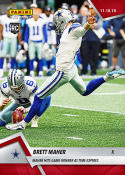 2018 Panini Instant NFL Football #99 Brett Maher RC First Rookie Card Dallas Cowboys  Hits Game Winner as Time Expires Print Run 62 Official Trading C