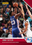 2018-19 Panini Instant NBA Basketball #40 Jimmy Butler Philadelphia 76ers  Knocks Down Game-Winner Print Run 87 First 76ers card! SOLD OUT at Panini